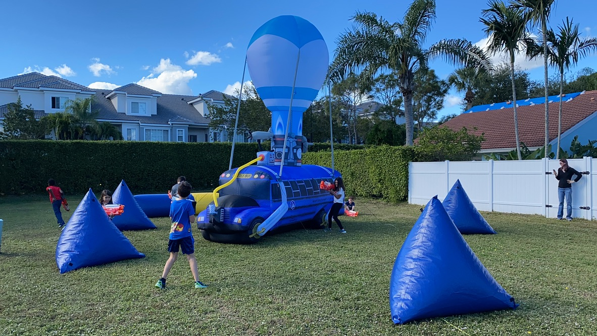 NERF - Bubble soccer - Kids party - Fort