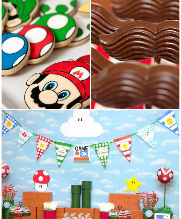 Mario Gaming Party Theme