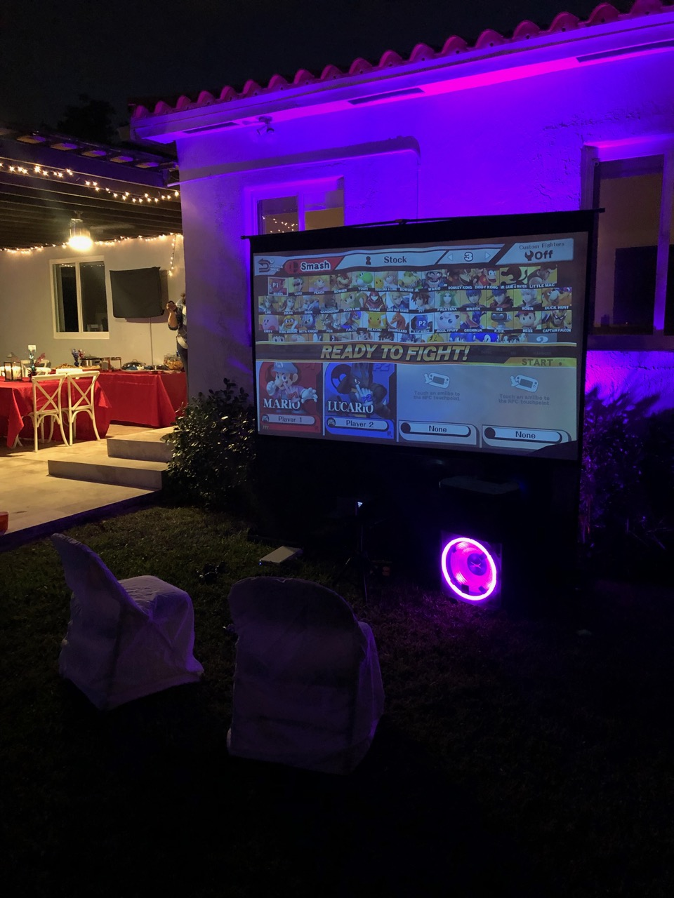 100 inch Projector Rental Florida - Corp