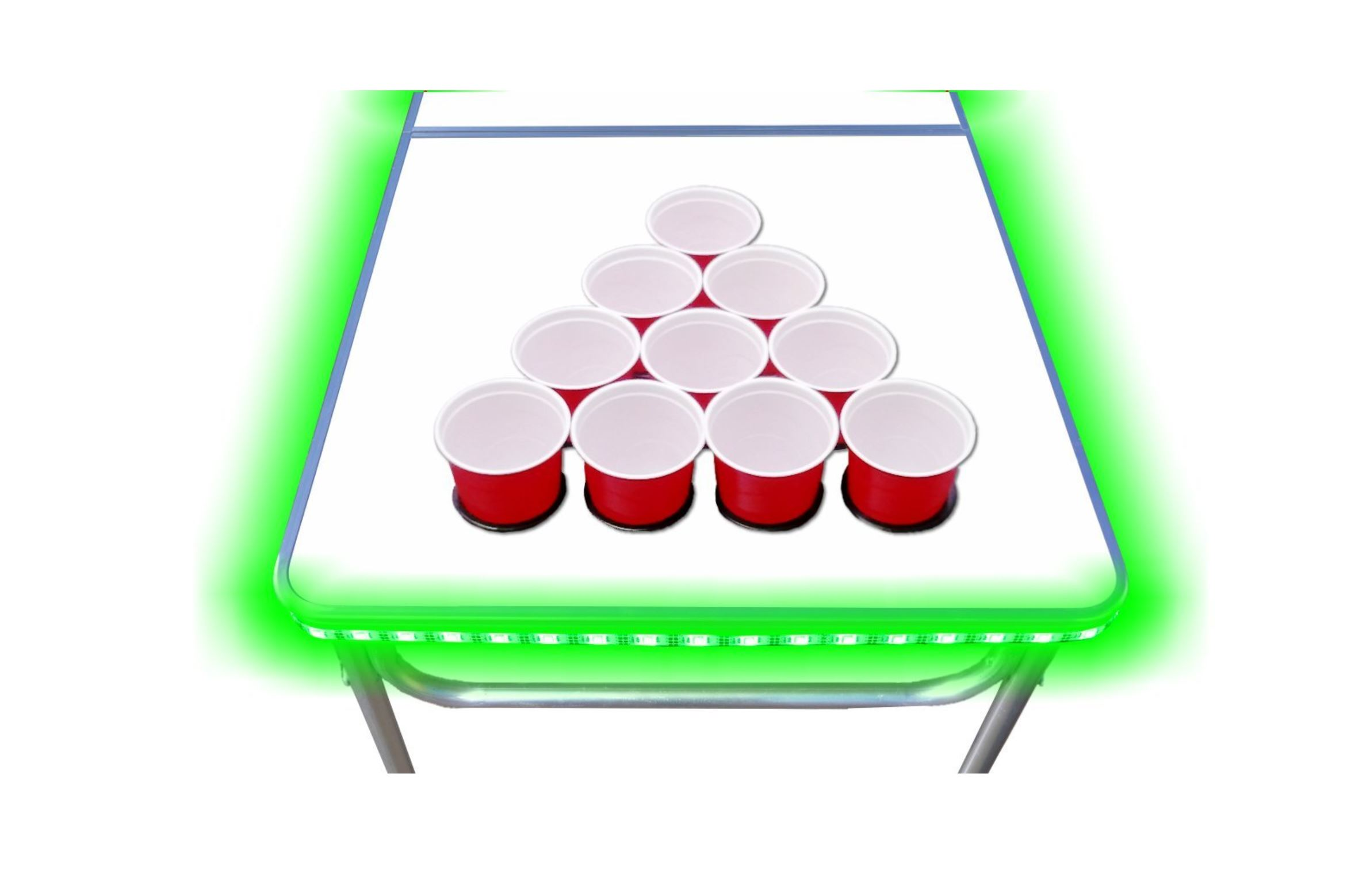 LED - Dry Eras Beer Pong Table - Party Rentals in South Florida - Miami, FL 786-423-8759