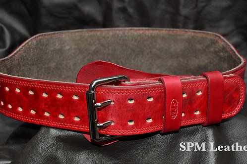 Red Distressed Kettlebell belt standard