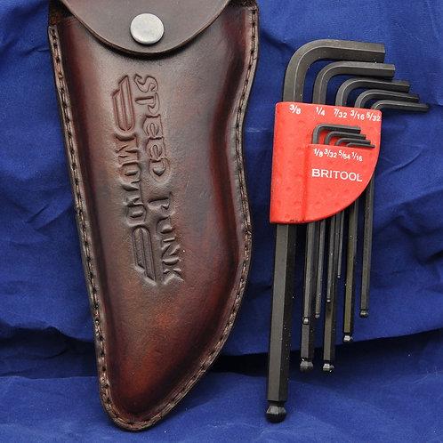 Hex key tool holder brown