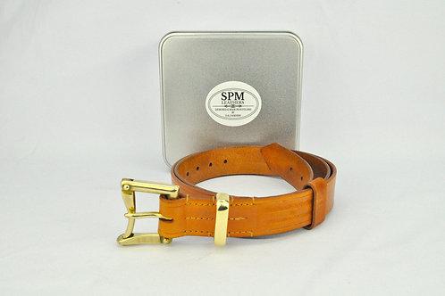 Tan leather fireman belt
