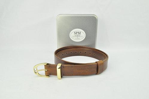 Brown leather stirrup belt