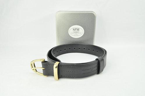 Back leather stirrup belt wide