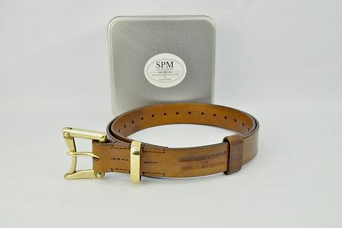 Brown Leather fireman belt wide