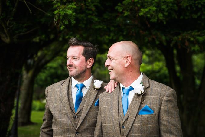 Groom and best man Cumbria wedding