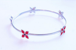 red gentian bangle