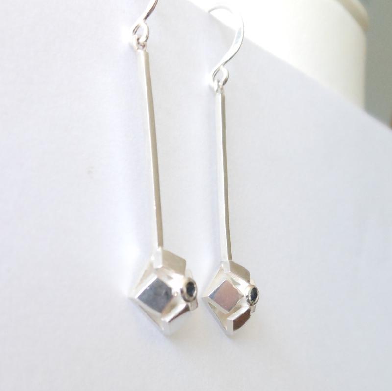 lotus long drop earrings