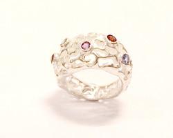 Gemset coral ring