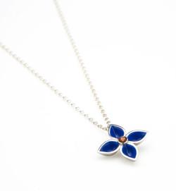 gentian blue pendant