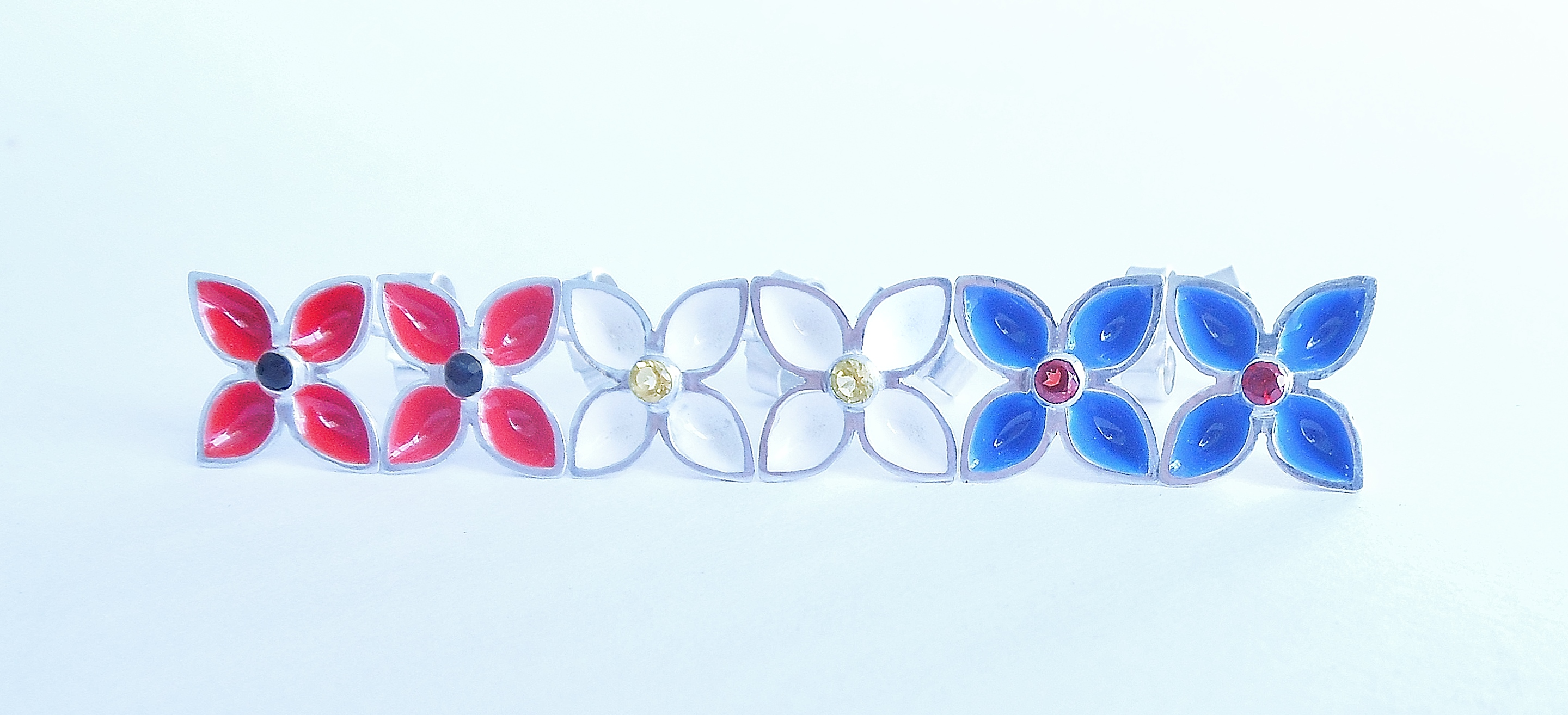 gentian stud earrings