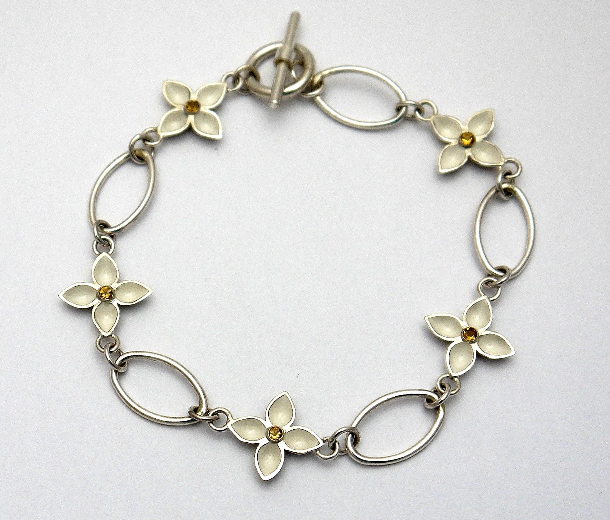 gentian chain bracelet