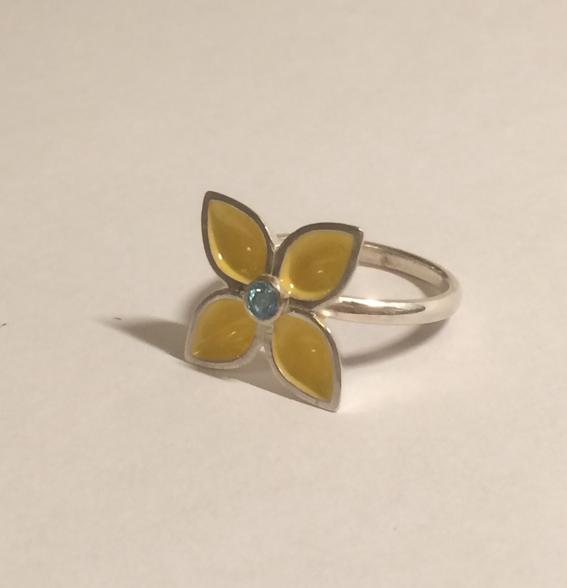 large gentian ring