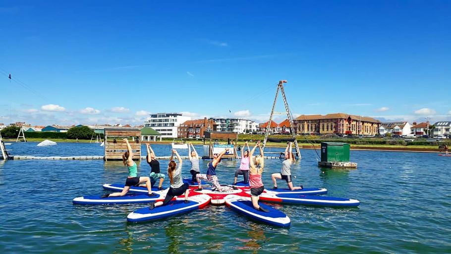 Teaching SUP Yoga at Lagoon Watersports