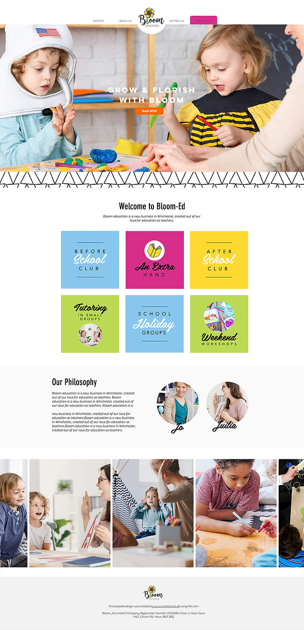 Bloom Website, Flat