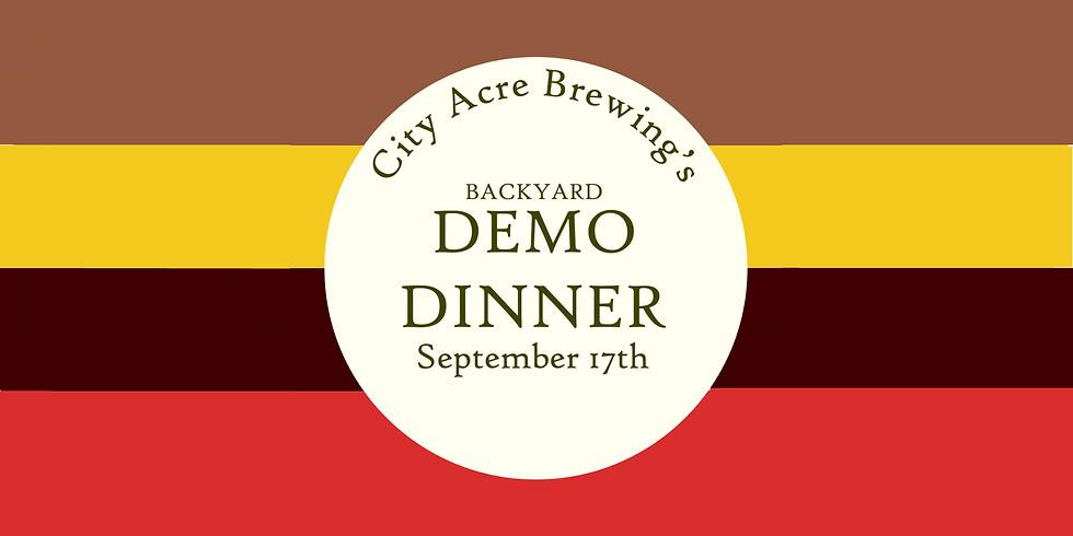 Backyard Demo Dinner, September 17th