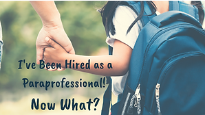I've been hired as a Paraprofessional_ N
