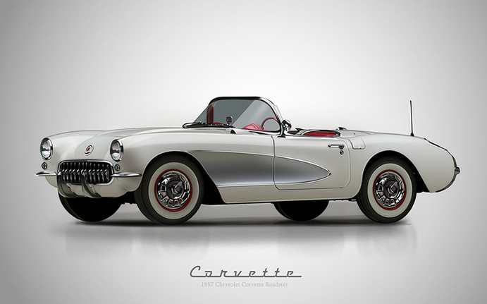1957 Chevy Corvette Roadster. Personal work.