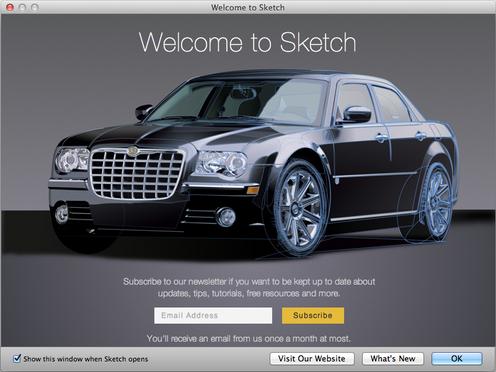 Sketch App Splash Screen for Bohemian Coding Sketch 2.3