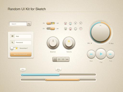 UI set for Sketch app.