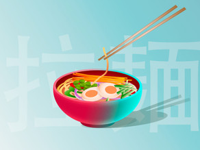 Colourful Ramen Bowl Vector Illustration - Step by Step tutorial.