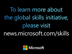 Microsoft's commitment to help 25 million people acquire new digital skills needed after Covid-19