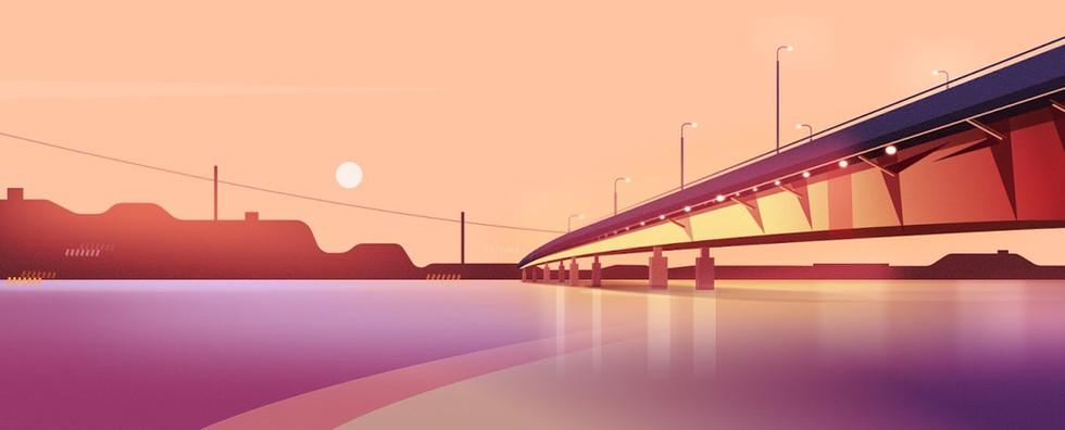Helsinki Bridge Illustration for Serif.com
