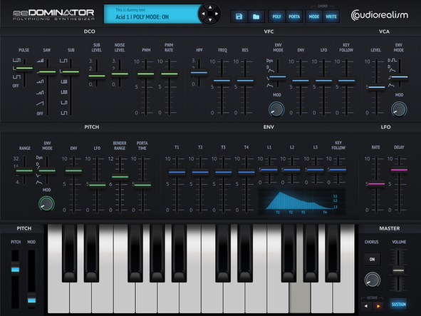 Redominator UI design for Audiorealism