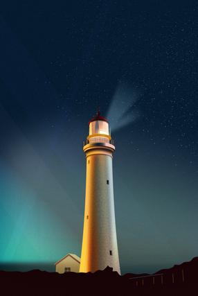Lighthouse illustration variations. Personal work.