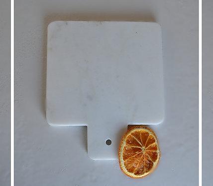 """Tagliere """"Quadrato""""  in marmo bianco di Carrara"""