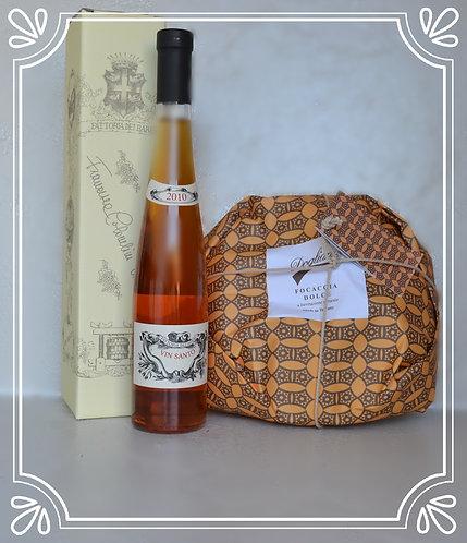 Focaccia Dolce + Vin Santo