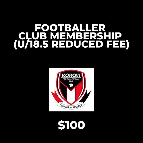 2020 Footballer Club Membership - REDUCED FEE