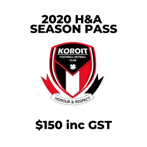 2020 Season Pass (Home and Away Games)