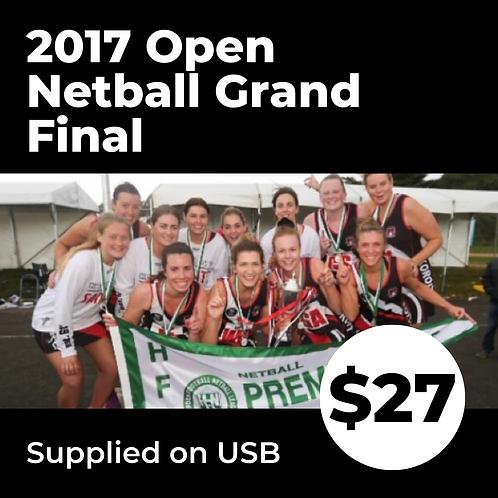 2017 HFNL Open Netball Grand Final