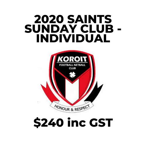 2020 Saints Sunday Club (Individual)
