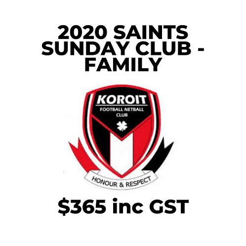 2020 Saints Sunday Club (Family Membership)