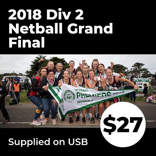 2018 HFNL Division 2 Netball Grand Final