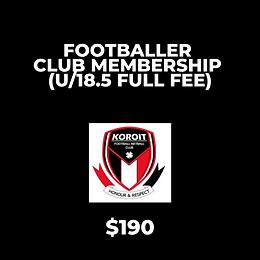 2020 Footballer Club Membership - FULL FEE