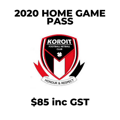 2020 Season Pass (Home Games)
