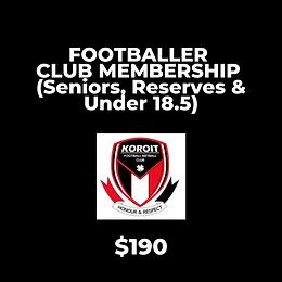 2021 Footballer Club Membership - FULL FEE