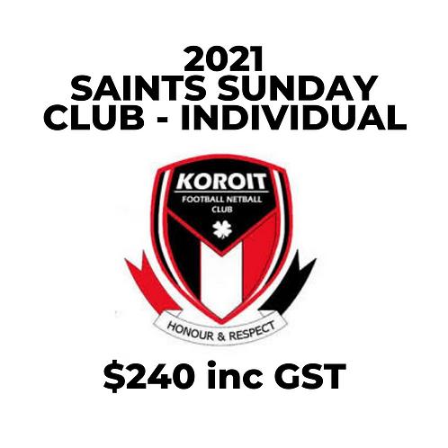2021 Saints Sunday Club (Individual)