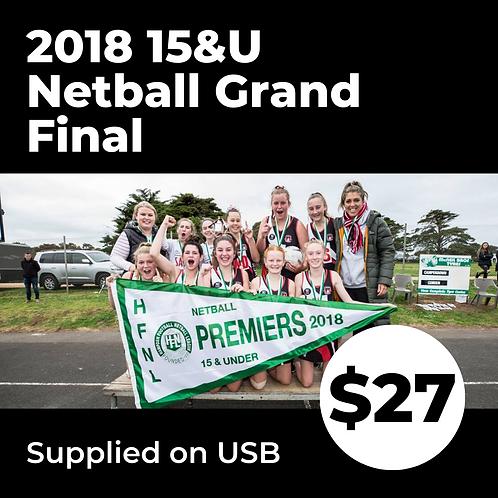 2018 HFNL 15&U Netball Grand Final