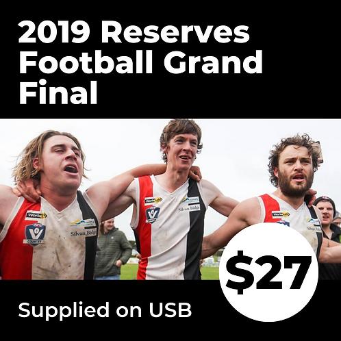 2019 HFNL Reserves Grand Final