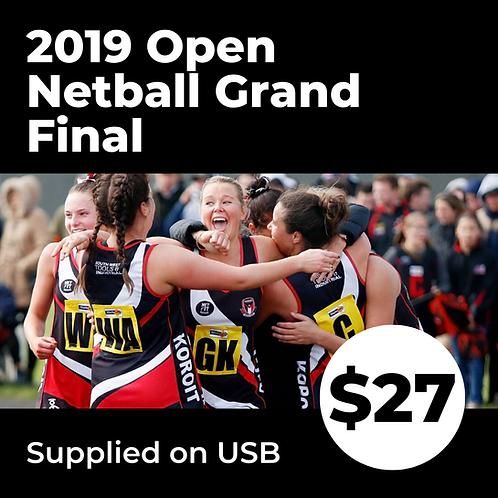 2019 HFNL Open Netball Grand Final