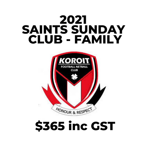 2021 Saints Sunday Club (Family Membership)