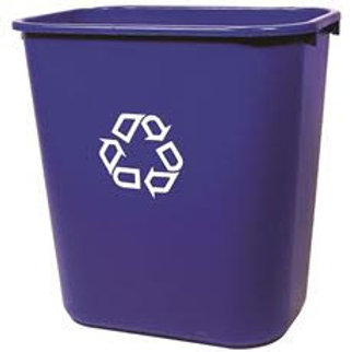 Rubbermaid Commercial Products 7 Gal. Deskside Recycling Trash Container/Bin