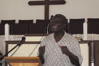 Pastor Morales speaking