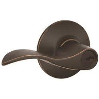 Schlage Accent Aged Bronze Keyed Entry Handleset Lever