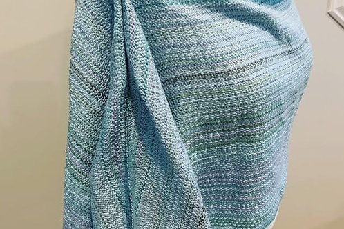 Handwoven Silk Wrap in a crepe twill